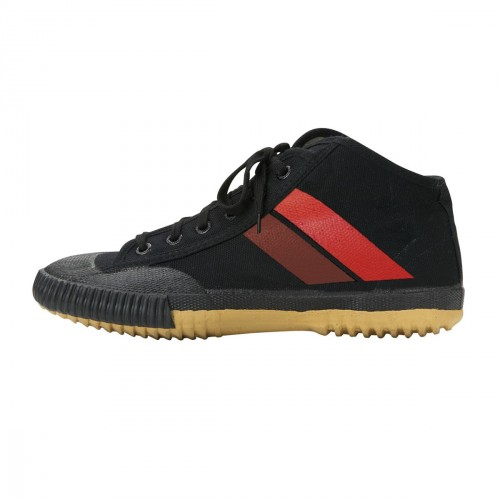 Wu Shu Hi-Top Shoes. Black