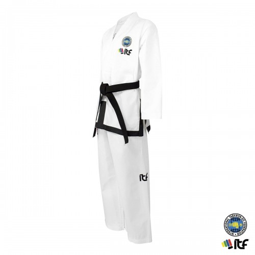 Dobok ITF. Black Belt. Ribbed. Approved