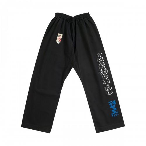 Pantalon Taekwon-do ITF. Noir.