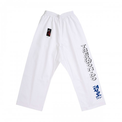 Pantalon Taekwon-do ITF. Blanc.