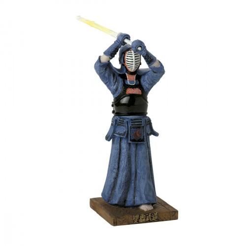 Figura de Kendo de cerámica. 20 cm