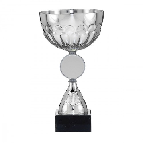 Trophy-Cup. Silver with disc holder