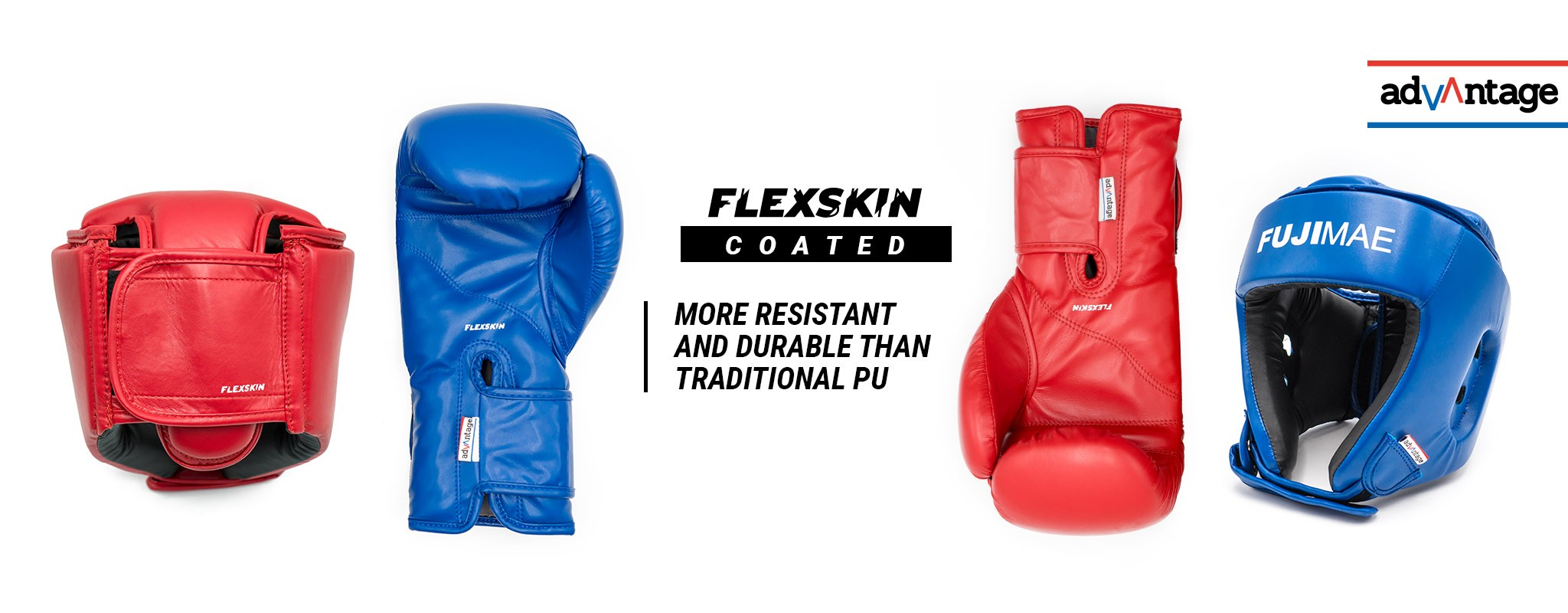 Flexskin Protective Gear. Boxing Gloves and Open Head Guard